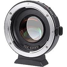 Ewoop Viltrox Ef-m2AF Autofocus 0,71X Réducteur de focale Booster adaptateur de monture pour objectif Canon EOS EF vers M4/3mFT Micro 4/3pour appareils Panasonic Gh54321, Olympus OM-D E-M1M5M10/E-pl8765/Pen-F