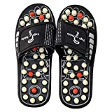 ZURU BUNCH® Spring Acupressure Magnetic Therapy Sandals |Yoga Paduka Acupressure Foot Relaxer| Foot Massager Slipper| Rotating Acupressure Foot Slippers for Men & Women-9 UK