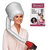 Hair Dryer Bonnet Hood, Soft Bonnet Hooded hair dryer Soft Bonnet Hooded hair dryer Attachment for Natural Curly Textured Hair Care, Adjustable hood bonnet for Hand Held Dryer (Sliver)