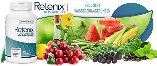 Retenix Advanced – Anti-Bloating | Muscle Definition | Eliminate Excess Fluid with this Natural Diuretic – 60 Capsules