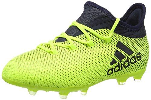adidas Unisex-Kinder X 17.1 FG Fußballschuhe gelb/dunkelblau, 36 EU
