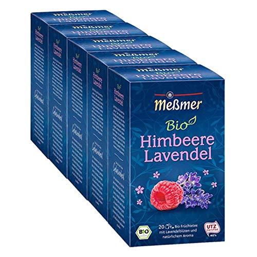 Meßmer Bio Himbeere-Lavendel, 5er Pack