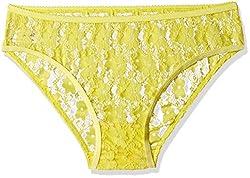 Clovia Women's Brief (PN0368P02-Medium_Yellow)
