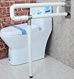 LISABOBO Badezimmer griff Barrierefrei Armlehne dickere Ältere Handläufe für Behinderte Bad / WC Dusche Badezimmer Falten Nylon Handlauf Handlauf (Farbe: weiß, Größe: 60 cm)