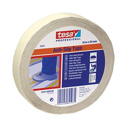 Tesa 60953-00000-00 Nastro Antisdrucciolo, 15m x 25mm, Fluorescente, Flourescente