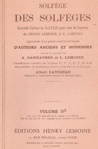 Partition : Solfège des Solfèges (3E) Clé d'Ut 4 (Sans accompagnement) -