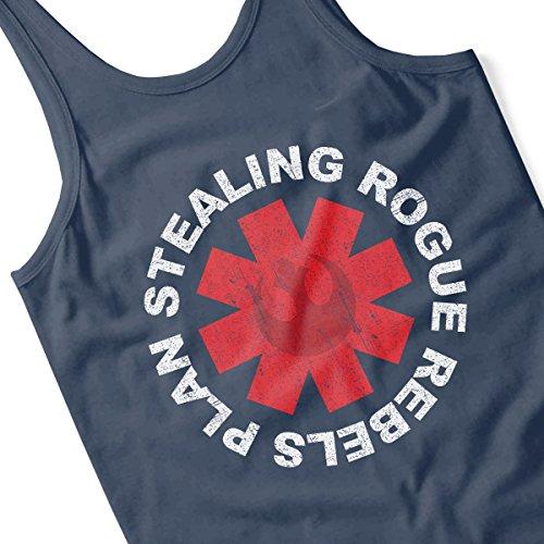 Star Wars Rogue One Plan Stealing Chilli Peppers Logo Men's Vest Navy Blue