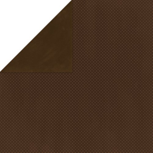 BoBunny Double Dot Double-Sided Textured Cardstock 12x12-Coffee 25 per pack by Bo Bunny -