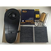 Hengst Filtro dell' olio Mahle filtro del carburante + filtro dell' aria 2x filtro a carbone attivo SCT Germany BMW Serie 5F10, serie 7F01525d 530d 535d 730d 740d