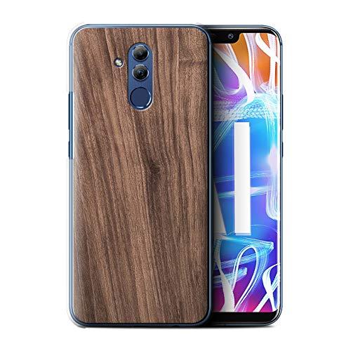 Stuff4® Hülle/Case für Huawei Mate 20 Lite/Nussbaum Muster/Holz/Holzmaserung Muster Kollektion -