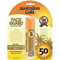 Australian Gold Face Guard SPF50 Protector Solar Facial en Stick, 14 gr, paquete de 2