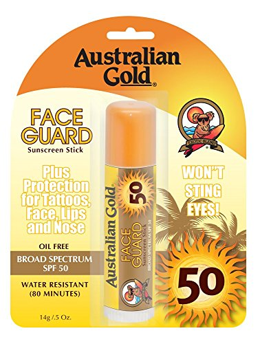 Australian Gold Sun Protection Stick SPF 50 Viso Viso Guard 14g - set di 2