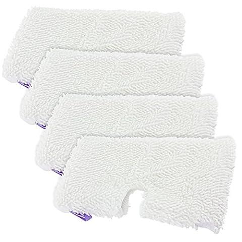 Spares2go Lot de 4housse de nettoyage à vapeur en microfibres pour Shark S2901 S3455 S3501 S3502 S3601 S3701 S3901 violet