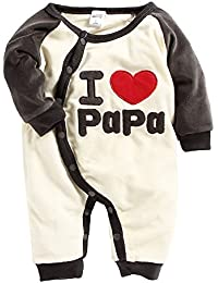 SPRING BUNNY - Soft ' I Love Papa ' Applique Boys Romper
