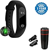 Captcha Lenovo Vibe P1 Turbo -Compatible Certified Intelligence Band IP67 Waterproof Heart Rate Monitor Fitness Tracker Bluetooth Band With 12x digital optics telephoto zoom lens(1 Year Warranty)