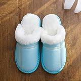 YSFU Hausschuhe Frauen Winter Warme Hausschuhe Frauen Hausschuhe Baumwolle Liebhaber Haus Hausschuhe Haus Schuhe Frau, 7