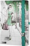 Lanybook 112/9974148 - Notizbuch Metropolitan, A6, blanko, 192 Seiten, inklusive Froschtasche, grün