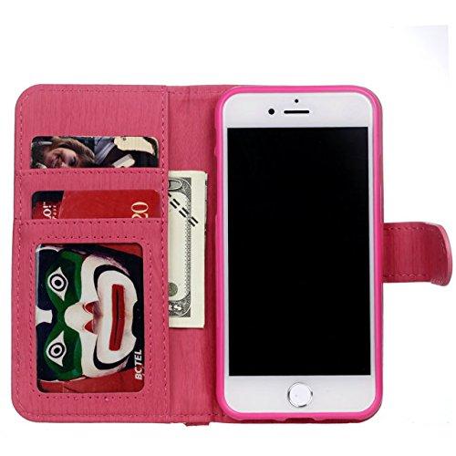 iPhone Case Cover Housse IPhone 7, modèle de tissage PU Housse en cuir de protection Case Wallet Stand avec des fentes pour cartes et cadre photo pour Apple IPhone 7 ( Color : 3 , Size : IPhone 7 ) 3