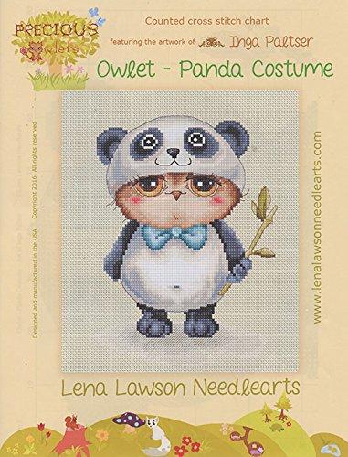 Eule Owlet Panda Kostüm Diagramm