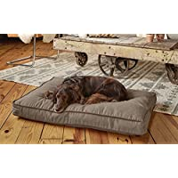 Orvis Twill Comfortfill Platform Dog Bed / Large Dogs 60-90 Lbs., Khaki, Large