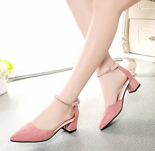 Covermason Sommer Damen Sandalen Wedges Schuhe Rosa