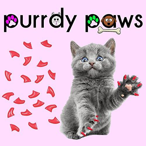 40er Soft Nail Kappen für Katzen Krallen Hot Pink * purrdy Pfoten Marke Cat Claw Caps Pink