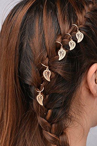 10 pcs Bague Doré Coque mains Fatima Croix Feuilles Pendentif Étoile Bagues Ensemble de pince à cheveux Bandeau Accessoires Cheveux
