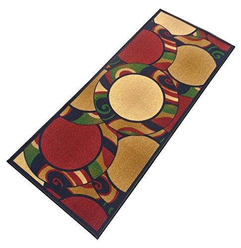 Yellow Weaves Floral Nylon Bed-Side Runner- Multi, 22 Inchse X 55 Inches