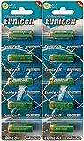 Eunicell 10 x 23A 12V (2 Blistercards a 5 Batterien) Quecksilberfreie Alkaline Batterien MN21, 23A, V23GA, L1028, A23 Markenware