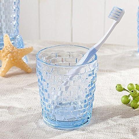 QASI® céramique Ensembles d'accessoires de salle de bain transparent Style européen simple bouteille d'émulsion porte-brosse à dents coupe-bouche savon presser la bouteille mouthwash