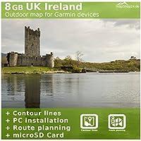 Gran Bretagna Regno Unito Irlanda Mappa TOPO–per Garmin Colorado 300,