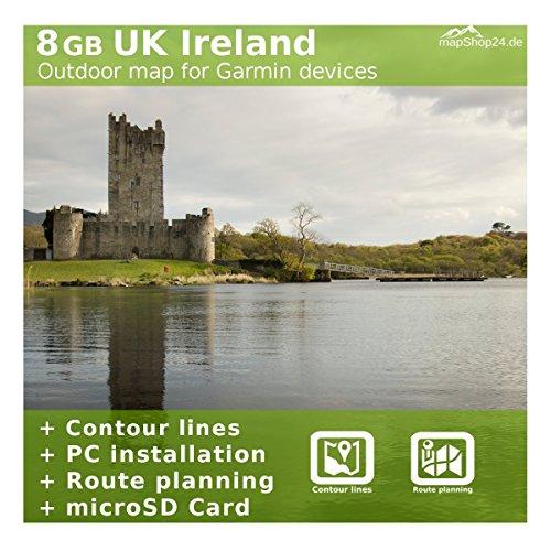 Gran Bretagna Regno Unito Irlanda Mappa TOPO per dispositivi garmin-per