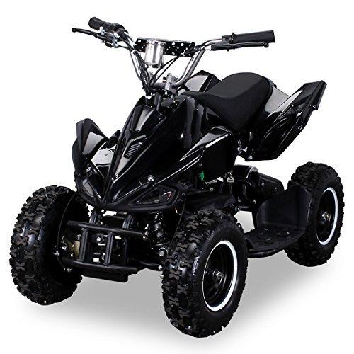 Mini Elektro Kinder Racer 800 Watt ATV Pocket Quad Kinderquad Kinderfahrzeug schwarz (Gas Quad Atv Für Kinder)