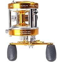 Anizun (TM) UK Full Metal 2+ 1BB cuscinetti a sfera destra mano tamburo ruota barca mare mulinello Horizontal CL40Golden