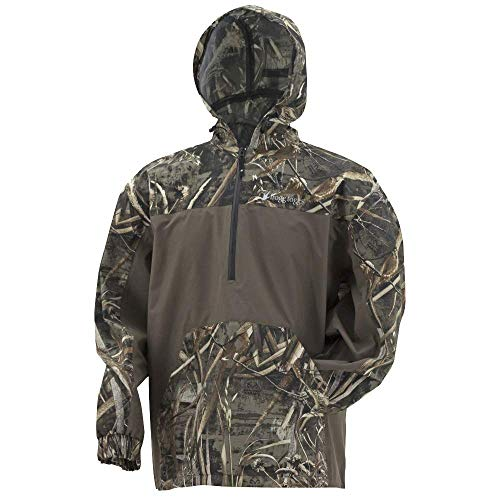 FROGG TOGGS Pilot Technical Hoodie, Realtree Max-5/Stone, Size XX-Large Pilot Technical Hoodie, Water-Resistant, Realtree Max-5/Stone, XX-Large