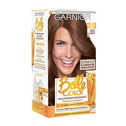 Garnier - Belle Color - Terre de Soleil - Coloration permanente Blond - 6.23 Blond foncé radieux Lot de 2