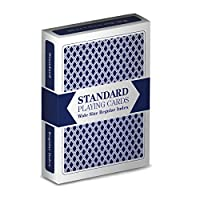 Brybelly Single Blue Deck, Wide Size, Jumbo-Index, Plastic-Coated Playing Cards