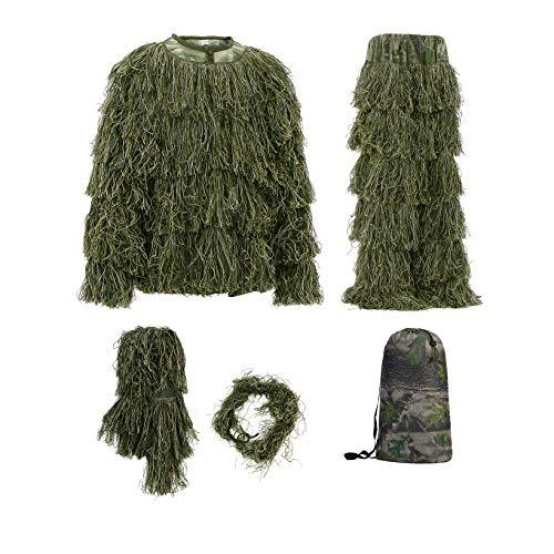 Einfaches Kostüm Recycling - Auscamotek Jagd Ghillie Suit für Jäger Nature Fotografen, grün, XL-XXL