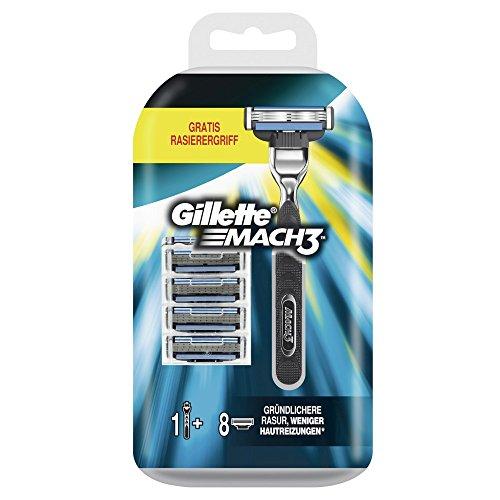 gillette-mach3-turbo-starter-set-8-klingen-plus-gratis-rasierer-1er-pack-1-x-8-stuck