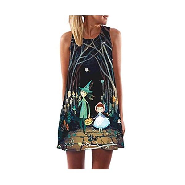 Womens Printed Racerback Vest Mini Dress Kanpola Ladies Loose Summer Beach Sleeveless 3D Vintage Digital Floral Print…