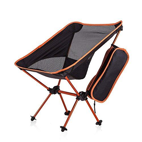 Newdora Portable Ultralight Klapp Campingstuhl Compact Camping Backpacking Stühle mit Tragetasche Wandern Reisen Jagd Angeln