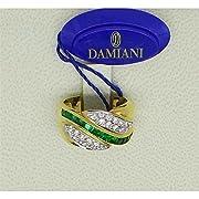 DCL04038 Anello Damiani Donna Materiale Smeraldo Anello in oro 18 Kt Diamanti taglio brillante CT 0.52 Colore H Smeraldi CT 0.80