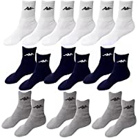 9 Paar Socken Kappa 3 Farben Größe 43 - 46 Tennissocken Strümpfe Arbeitssocken Herrensocken Socke