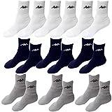 9 Paar Socken Kappa 3 Farben Größe 39 - 42 Tennissocken Strümpfe Arbeitssocken Herrensocken Socke