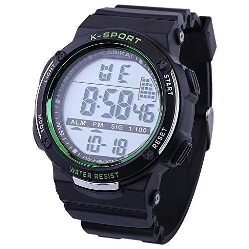friendGG_Armbanduhren Multifunktionssport-Digitale elektronische Tarnung-wasserdichte Art- und Weiseuhr-Multifunktionsleuchtende und Freizeit-Quadrat-wildes einzigartiges einfachen Trend auf