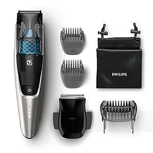 Philips BT7220/15 Series 7000 Regolabarba Aspirante con e senza Filo, 80 Minuti di Autonomia, 2 Pettini di Precisione, Custodia