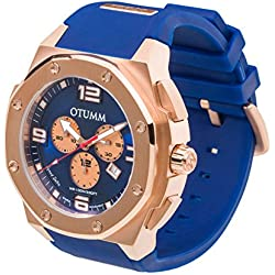 OTUMM Speed Rose Gold 07222 Men's Watch XL - 53 mm (Chronograph) - Blue