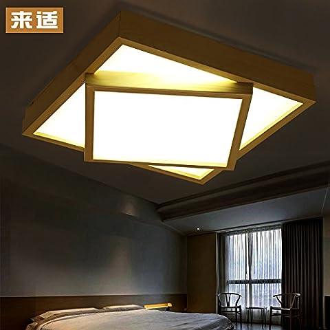 blyc-facile solide bois idées de Carré Salon Leuchten Couette Chaude Lampes de chambre Leuchten Master LED Blanc Chaud Bois dans la chambre 480* 480mm