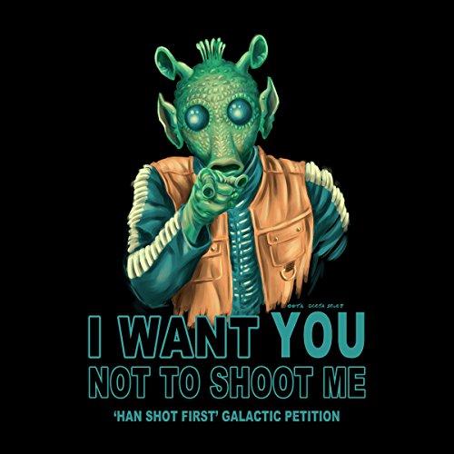 Rodian Petition Greedo Star Wars Women's Hooded Sweatshirt Black