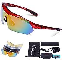 Carfia Occhiali da sole polarizzati di sport UV400 TR90 per lo Sci Golf Corsa Ciclismo Super Leggero per Gli Uomini e le Donne